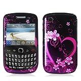 Purple Love Design Crystal Hard Skin Case Cover for Blackberry Curve 8520 8 ....