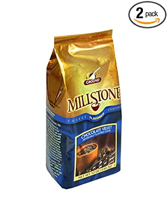 Millstone Chocolate Velvet Ground Coffee, 12-Ounce Packages (Pack of 2)
