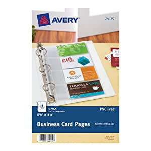 Amazon Avery Mini Business Card Pages Clear 5 5 x
