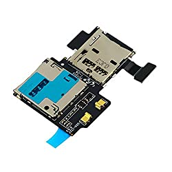Micro SD Card Reader SIM Tray Holder Flex Cable for Samsung Galaxy S4 i9505 by Buyyart