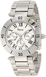Freelook Women's HA1535M-4 Stainless Steel Band W/Silver Dial. And Bezel Watch
