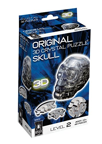 Original 3D Crystal Puzzle - Skull Black - 1