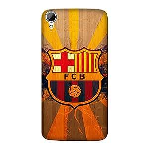 Abhivyakti Sports Fcb Hard Back Case Cover For HTC Desire 821