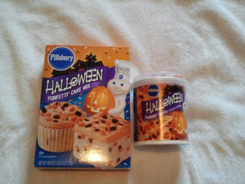 HALLOWEEN PILLSBURY FUNFETTI CAKE MIX AND Halloween FUNFETTI VANILLA FROSTING