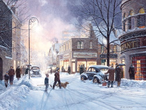 Cobble Hill Winter Evening 500 Piece Jigsaw Puzzle