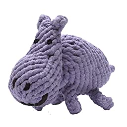 Jax and Bones Hank The Hippo Rope Dog Toy