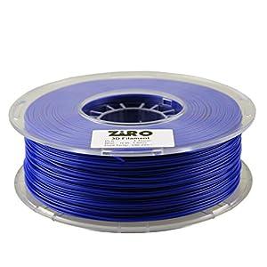 ZIRO 3D Printer Filament PLA 1.75 1KG(2.2lbs), Dimensional Accuracy +/- 0.05mm, Blue by ZIRO