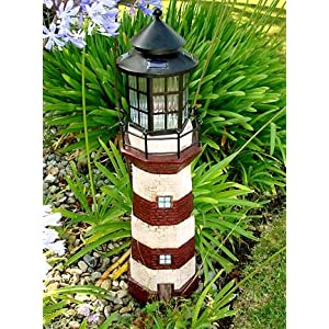 Click to read our review of Decorative Garden Solar Powered Large Lighthouse Fiberglass Solar Light (RED/IVORY)