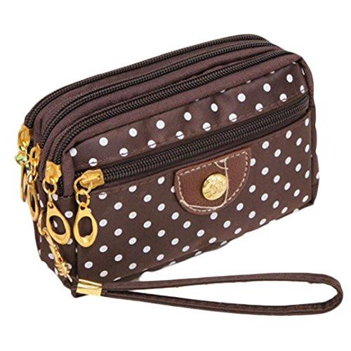 ouneed-fashion-women-wristlets-bag-messenger-wave-canvas-zipper-bag-brown