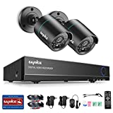 SANNCE 4CH HD 720P DVR Recorder Video Surveillance System and (2) 720P (1280TVL) Indoor/Outdoor Weatherproof Bullet CCTV Cameras, 66ft IR LED Night Vision - NO HDD