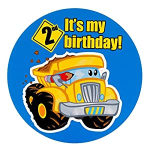 Construction Pals 2nd Birthday Invitations (8) from Party Destination
