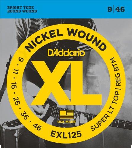 D'Addario ダダリオ エレキギター弦 ニッケル SuperLight Top/Regular Bottom .009-.046 EXL125 【国内正規品】