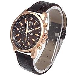 Blinx - Designer Fashion Leisure Casual Unisex Men Women Watches CHBRN pu faux Croc-Leather Smart wrist watch