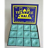 Box of 12 Green Triangle Pool Table Chalksby Box of 12 Green...