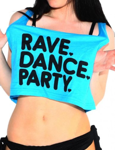 Rave Dance Party Crop Top (Blue)