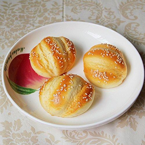 Moving box 6 pcs pu material fake cake artificial sesame for Artificial bread decoration