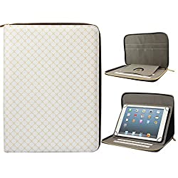 DMG Premium Stitched Durable Portfolio Bag with Accessory Pockets for Nxi Ffn (Textured White)