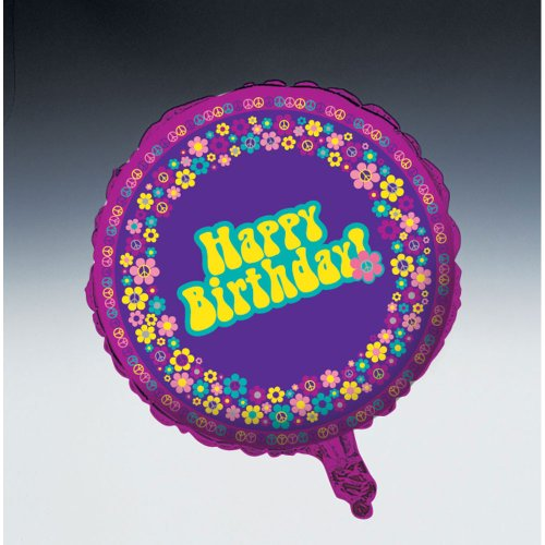 Groovy Girl Party Happy Birthday Foil Balloon - 1