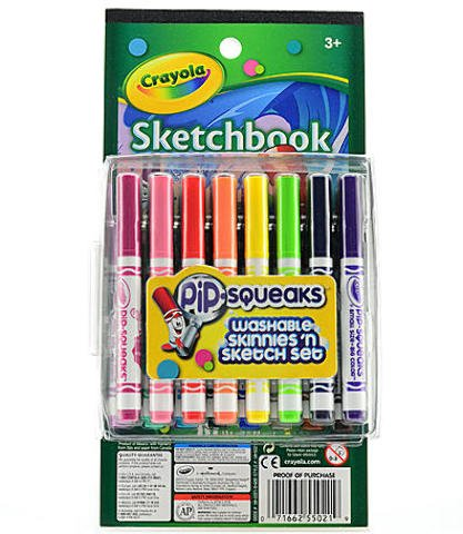 Crayola Pip-Squeaks Skinnies Sketch 'n Color Set