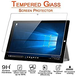 Surface Pro 4 Screen Protector, AnoKe (0.3mm 9H Hardness) Tempered Glass Screen Protector Cover For Microsoft Surface Pro 4 12.3, [Lifetime Warranty] Glass