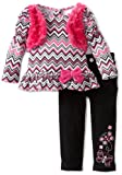 Nannette Baby-Girls Infant 2 Piece Zig Zag Pant Set