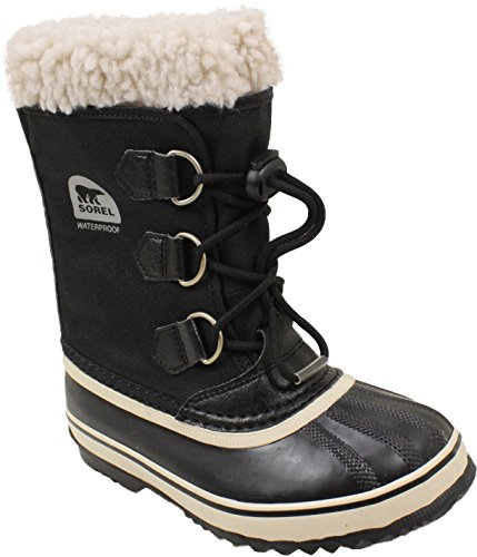 Sorel Yoot Pac Nylon Cold Weather Boot (Toddler/Little Kid/Big Kid), Black, 3 M US Little Kid