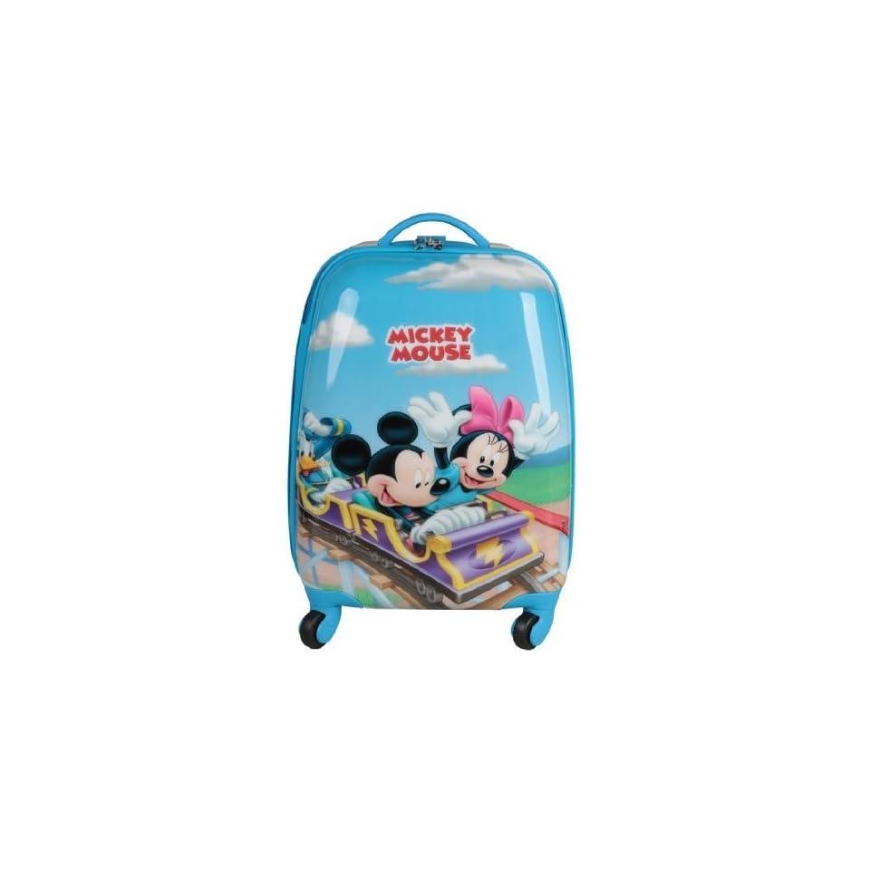 Disney Mickey Minnie Child Kid Travel Luggage Bag Handbag Trolley Roller Rolling 16 43cm