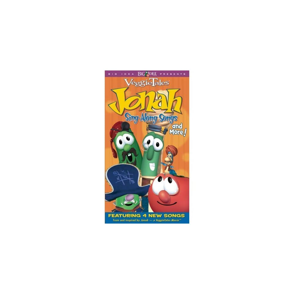 Veggie Tales Jonah Sing Along Songs and More VHS Sealed on