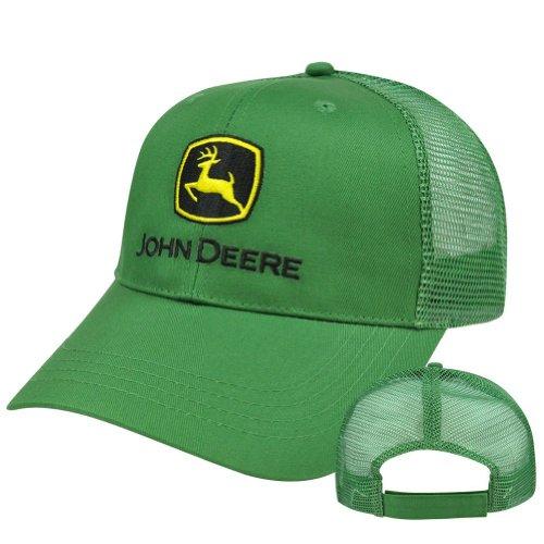 John-Deere-Green-Mesh-Trucker-Style-Adjustable-Velcro-Cotton-Brand-Farm-Hat-Cap