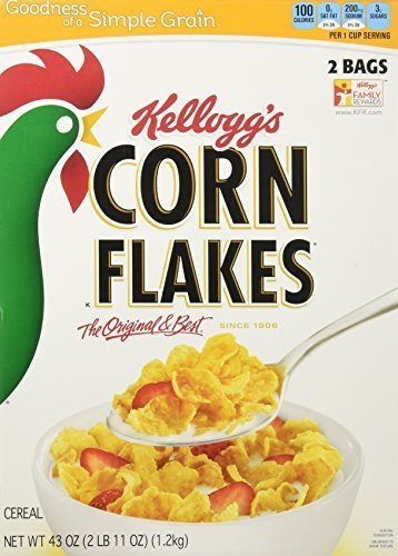 Kellogg's Corn Flakes Cereal 43.0 Total Ounce Two Bag Value Box by Kellogg's