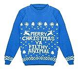 FK Styles Kids Boys Girls Merry Christmas Ya Filthy Animal Print Jumper