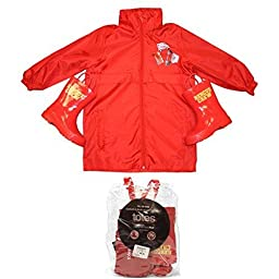 Totes Rain Pack Boots_Jacket Red