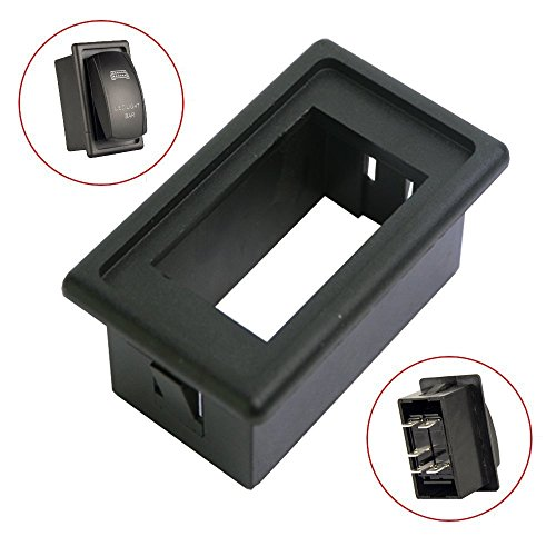 Mictuning Rocker Switch Holder Panel Housing Kit Fireproof ABS Plastic Black (Ford Escape Panel compare prices)
