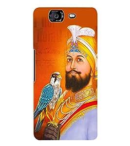 Fuson 3D Printed Lord Guru Gobind Singh Designer Back Case Cover for Micromax Canvas Knight A350 - D524