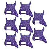 8 pcs New Purple Pearl 3 Ply-11 hole guitar pickguard for fender Strat guitar