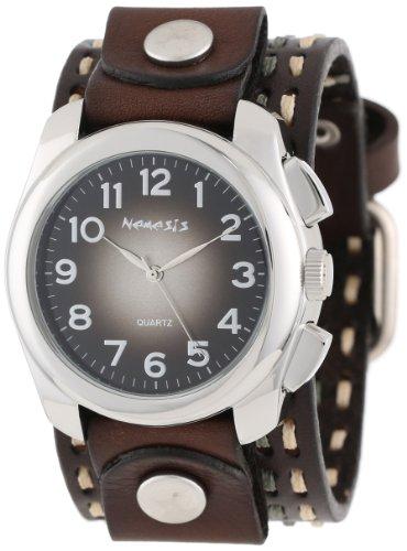 Nemesis Unisex 091KDTB Elegant Gradient Design Leather Band Reloj