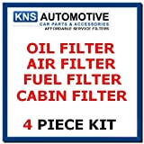 VW Golf MK4 & Bora 1.6,1.8 &2.0 (97-04) Oil,Fuel,Cabin & Air Filter Service Kit by Alco Filter