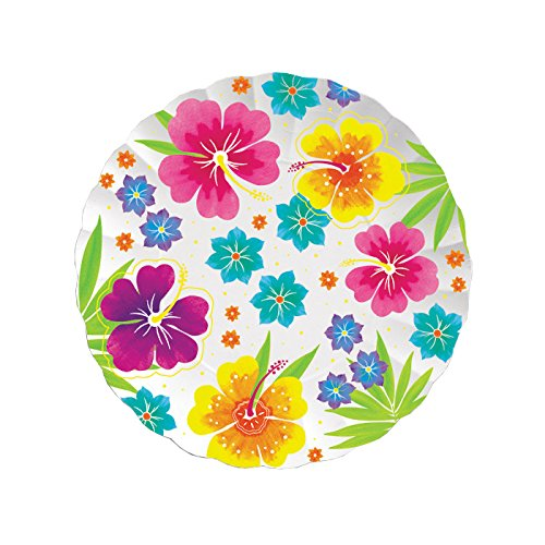 Creative Converting Paper Tray, 11-Inch, Floral Delight