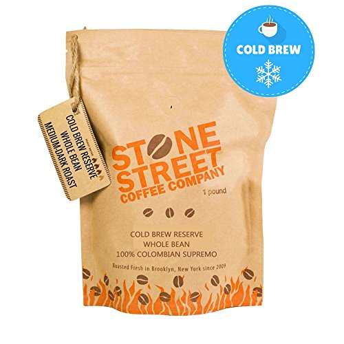 Stone Street Coffee Cold Brew Reserve Colombian Supremo Whole Bean Coffee - 1 lb. Bag - Medium Dark Roast (French Roast Coffee Maker compare prices)