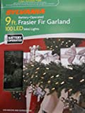 Sylvania 9ft Lighted Christmas Pine Garland with 100 Led White Lights