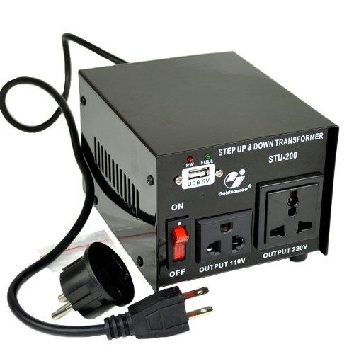 Heavy Duty ST200 200 Watt 110 220 Volt Voltage Converter 110v 220v 240v