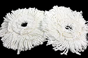 PRO 360 Rotating Spin Magic Mop - Dual Drying Version Replacement Mop Heads (Pro 360 Clean)- 2 Pack