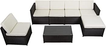 7 Pcs Outdoor Patio Sofa Set