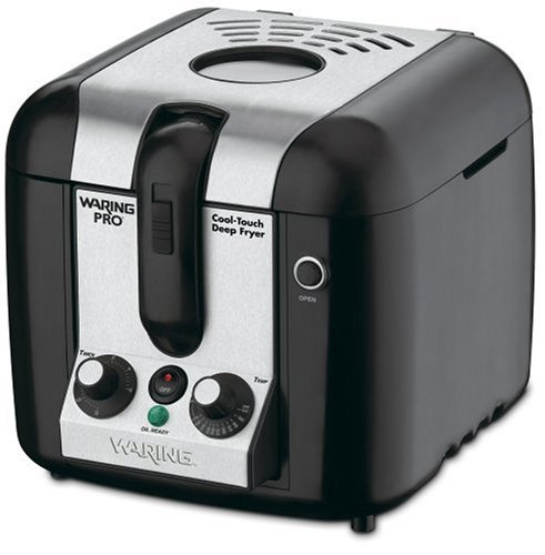 Waring DF100 Cool-Touch 3/4-Gallon Deep Fryer, Black with Stainless Accents