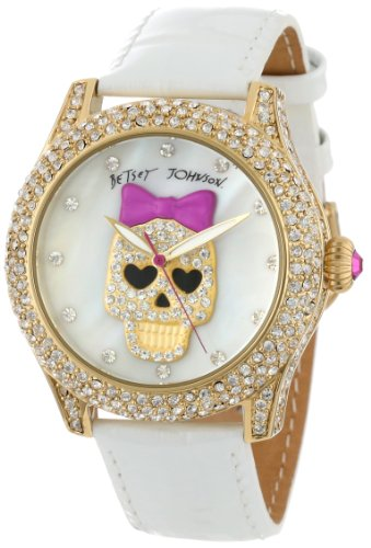 Betsey Johnson Women's BJ00019-06 Analog Pink Skull Dial Watch