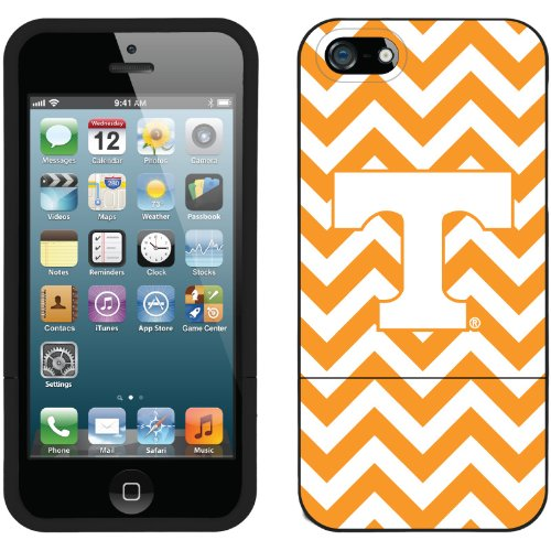 Great Price University of Tennessee Lined Chevron design on a Black iPhone 5 Slider Case by Coveroo