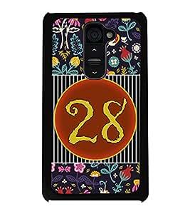 PrintVisa Metal Printed Numeric Designer Back Case Cover for LG G2-D4779