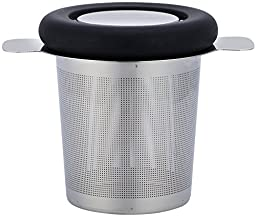 Simple Modern Tea Infuser 304 Stainless Steel Extra-Fine Best Brew-in-Mug - Standard Size Tea Strainer with Silicone Lined Lid - Perfect for Single Cup Teavana Loose Leaf Green Tea
