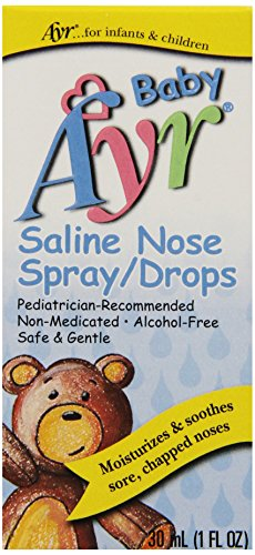 Baby Ayr Saline Nose Spray/Drops, 1-Ounce Spray Bottles (Pack of 6) (Saline Spray Drops compare prices)
