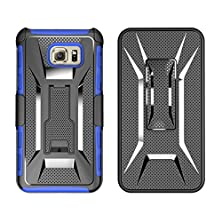 buy Galaxy Note 5 Case, Vogue Shop Belt Clip Holster With Kickstand [Integrated X Series Back Clip] [Heavy Drop Protection] Combo Hybrid Armor Defender Full Protection [Heavy Duty] (Blue)